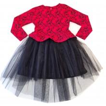 Официална детска рокля с тюл 116-146