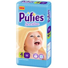 Pufies Sensitive 4 пелени 7-14кг. 56бр.