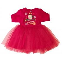 Коледна рокля с тюл 74-116