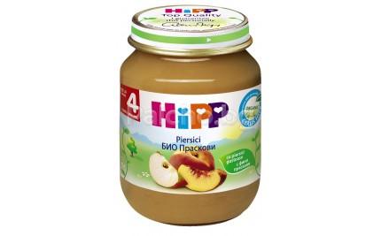 Хип пюре - Hipp Bio Праскови 125гр.