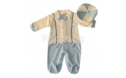 Бебешки гащеризон с шапка 56см