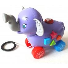 Музикална играчка на колела слонче