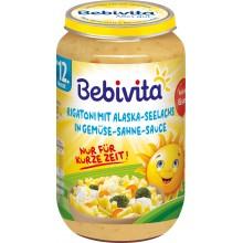 Бебивита пюре - Bebivita Ригатони с морска треска в сметаново-зеленчуков сос 250гр