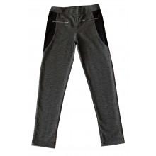 Клин панталон с кожени елементи 122-158