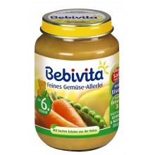 Бебивита пюре - Bebivita Различни зеленчуци 190гр.