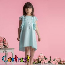 Контраст официална  рокля Белисима 128-152