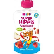 Hipp Bio Плодова закуска Ябълка и малина с нар и ацерола 100гр.