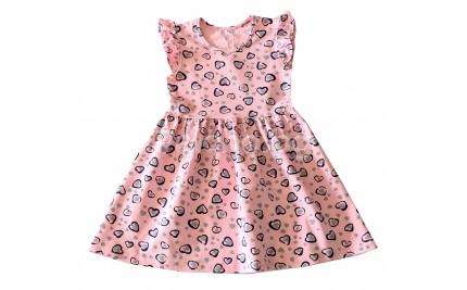 Детска лятна рокля Сърца 104-122