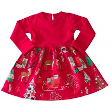 Детска коледна рокля 92-134