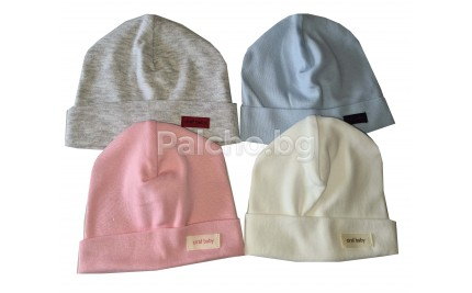 Бебешка памучна шапка 50-62