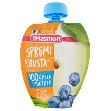 Plasmon Плодова закуска Ябълка с боровинки 100гр