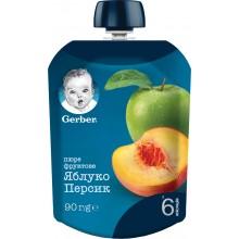Gerber Гербер Мус ябълка и праскова 90гр.