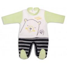 Бебешки плюшен гащеризон 56-68