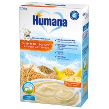 Хумана Каша - Humana Инстантна каша 5 зърна с банан 200гр