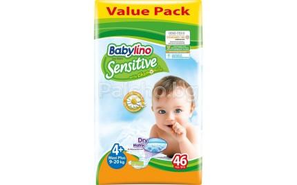Babylino Sensitive 4+ Пелени 9-20кг. 46бр.