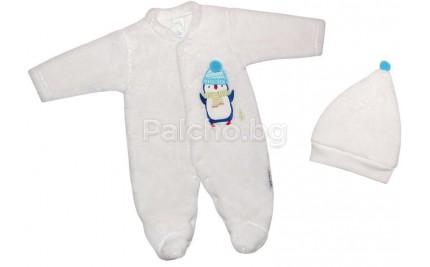 Пухен ескимос с шапка Пингвинчо 56-68
