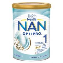 Нестле Нан 1 - Nestle Nan Optipro 1 HM-O Адаптирано мляко за кърмачета 0м+ 400гр.