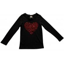 Контраст Блуза Сърце 122-152