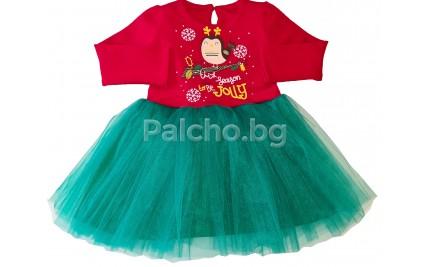 Детска коледна рокля 74-92