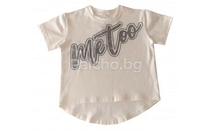 Къса тениска за момиче 128-158