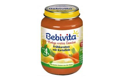 Бебивита пюре - Bebivita Моркови с картофи 190гр.