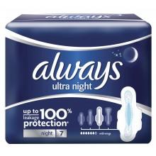 Always Ultra Night Дамски превръзки Нощни 7бр