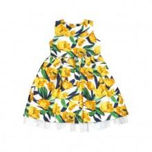 Официална рокля Жълти лалета 122-128