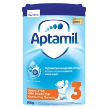 Аптамил 3 - APTAMIL 3 Преходно мляко 12м+ 800гр.