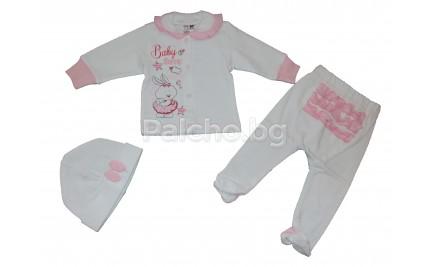 Комплект за бебе Зайче 56-62