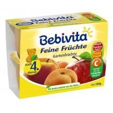 Бебивита Фини градински плодове 4 х 100гр.