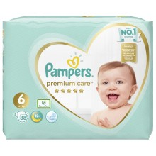 Pampers Premium Care 6 пелени 13кг+ 38бр.