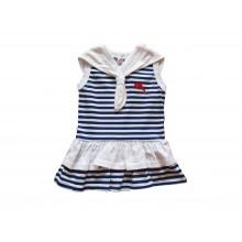 Моряшка рокля с яка 74-116см