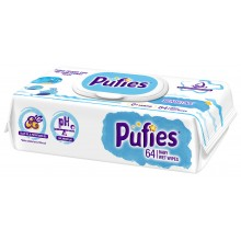 Pufies Sensitive - Мокри кърпи Пуфис 64бр.