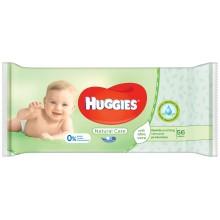 Huggies Natural care - Мокри кърпи Хъгис с 99% вода и Алое 56бр.