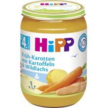 Хип пюре - Hipp Bio Сьомга с моркови и картофи 190гр.