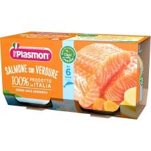 Плазмон пюре - Plasmon Сьомга със зеленчуци 2x80гр.