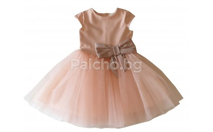 Контраст официална детска рокля 98-146