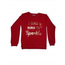 Bатирана блуза Born to sparkle 122-164