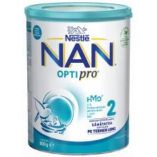 Нестле Нан 2 - Nestle Nan Optipro 2 HM-O Адаптирано мляко за кърмачета 6м+ 800гр.