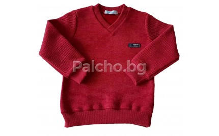 Мариела пуловер за момче Бордо 92-122