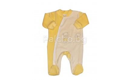 Плюшен Бебешки гащеризон Меченце 50-62