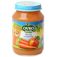 Овко пюре - Ovko Ябълки и моркови 190гр.