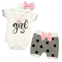 Бебешки летен комплект за момиче 62-86