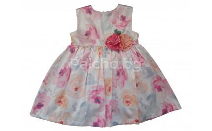 Контраст официална рокля Цветя 74-92