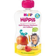 Hipp Bio Плодова закуска Ябълка, банан и малина с пълнозърнести култури 100гр