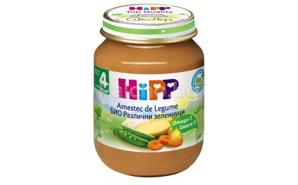 Хип пюре - Hipp Bio Различни зеленчуци 125гр.