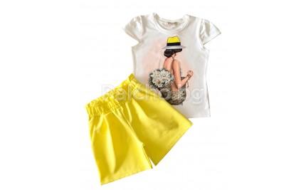 Летен комплект Слънчево момиче 104-116