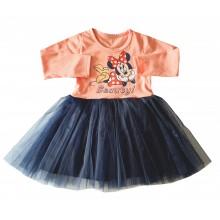 Детска рокля с тюл Мини Маус 92-122