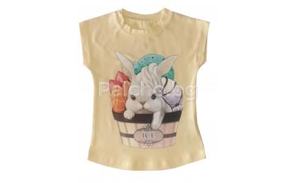 Блуза за момиче Зайче 86-116