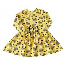 Детска рокля Сърца 80-122